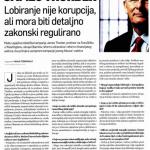 2011_04_29 James Thurber_Lobiranje nije korupcija, ali mora biti detaljno zakonski regulirano_SLIKA